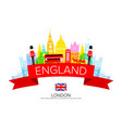 england travel landmarks vector image vector image