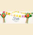 festa junina celebration background design vector image