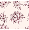 floral blooming lilies background hand drawn vector image vector image