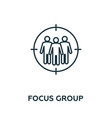 focus group thin line icon creative simple design vector image vector image