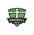 foosball game logo vector image