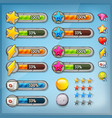 game ui kit with icons and status bars vector image vector image