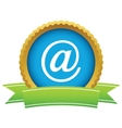 Gold email logo vector image