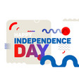 happy independence day modern background vector image vector image