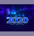 happy new year shiny blue greeting design vector image