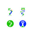 healthy people logo collection vector image