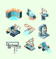 industry isometric smart machinery robotic remote vector image vector image