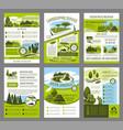landscape garden design brochure template vector image vector image