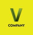 leaf like v logo image vector image vector image