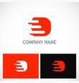 letter d technology logo vector image