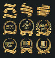 luxury white labels collection 6 vector image vector image