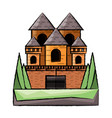 medieval castle design vector image