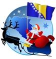 Merry Christmas Bosnia and Herzegovina vector image vector image