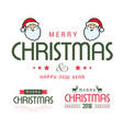 merry christmas card with white background and vector image