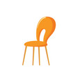 orange chair hole in back hard sit vector image vector image