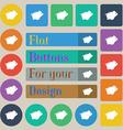 Piggy bank icon sign Set of twenty colored flat vector image
