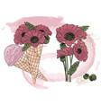 poppy ice cream cartoon clipart color vector image vector image