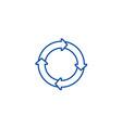 process diagrams line icon concept process vector image
