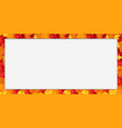 Rectangle border banner with fallen autumn maple