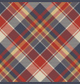 red blue tartan fabric texture seamless pattern vector image