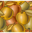 Retro apple background vector image