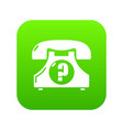 retro phone icon green vector image