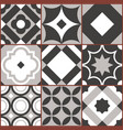 retro seamless tile pattern geometric decorative vector image vector image