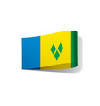 saint vincent and the grenadines flag vector image vector image