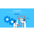 science people web landing page template vector image vector image