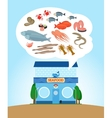 Seafood store vector image vector image