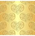 Seamless gold valentine pattern vector image