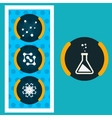 Set icons chemical experiments eps vector image vector image