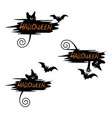 set of festive label for halloween vector image