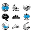 Set Ski logo design template elements vector image vector image