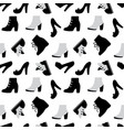shoe seamless pattern vector image vector image