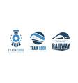 train logo original design templates set railway vector image vector image