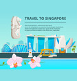 urban landscape with cultural objects of singapore vector image vector image