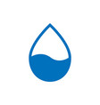 water drop icon in flat style raindrop on white vector image vector image