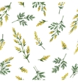 watercolor seamless pattern with wormwood vector image vector image