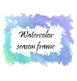 Watercolor winter frame vector image vector image