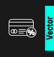 white line discount card with percent icon vector image vector image