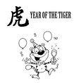 Year of the tiger cartoon vector image vector image
