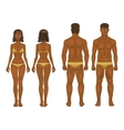 young woman and guy in underwear Body templates vector image vector image