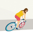 Young woman with fixie bicycle vector image vector image