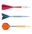 dart arrows small missiles with different shape vector image