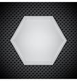 Metal circular grid vector image