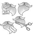 Set of logotypes for barbershop vector image