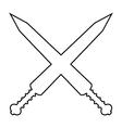 Crossed gladius swords icon vector image