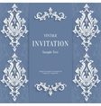 Gray Christmas Vintage Invitation Card with vector image