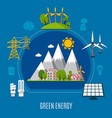 green energy composition vector image